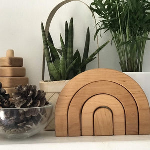 Wood Rainbow Stacker