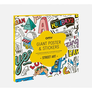 Giant Street Art  Poster and Stickers
