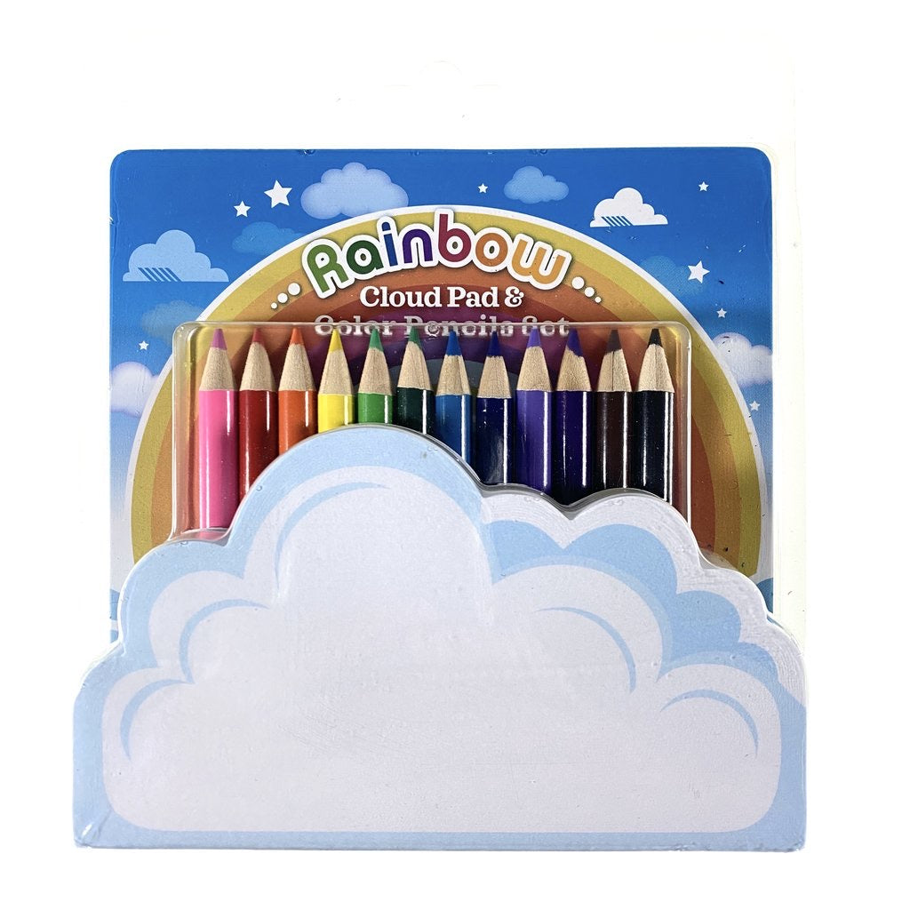 Rainbow Cloud Pad and Pencil Set