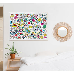 Giant Coloring Poster- Baby POP Art