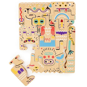 Double Sided Friendly Monster Puzzle