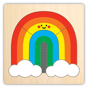 4 Layer Rainbow Friends Wooden Puzzle