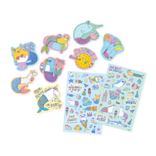 Load image into Gallery viewer, Mer-Made To Party Scented Stickers