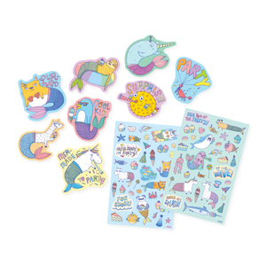 Mer-Made To Party Scented Stickers
