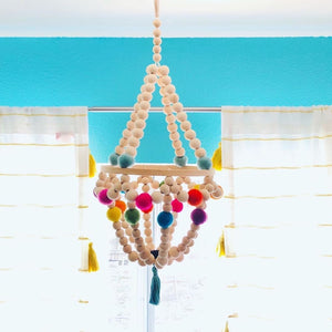 Wooden Mobile Chandelier