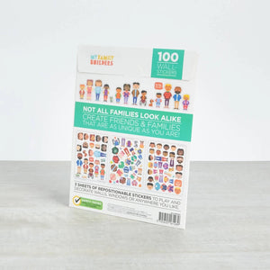 My Family Builders Mix & Match Reusable Wall Stickers