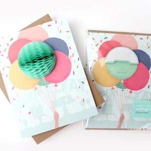 Bunch Of Balloons Pop Up Card