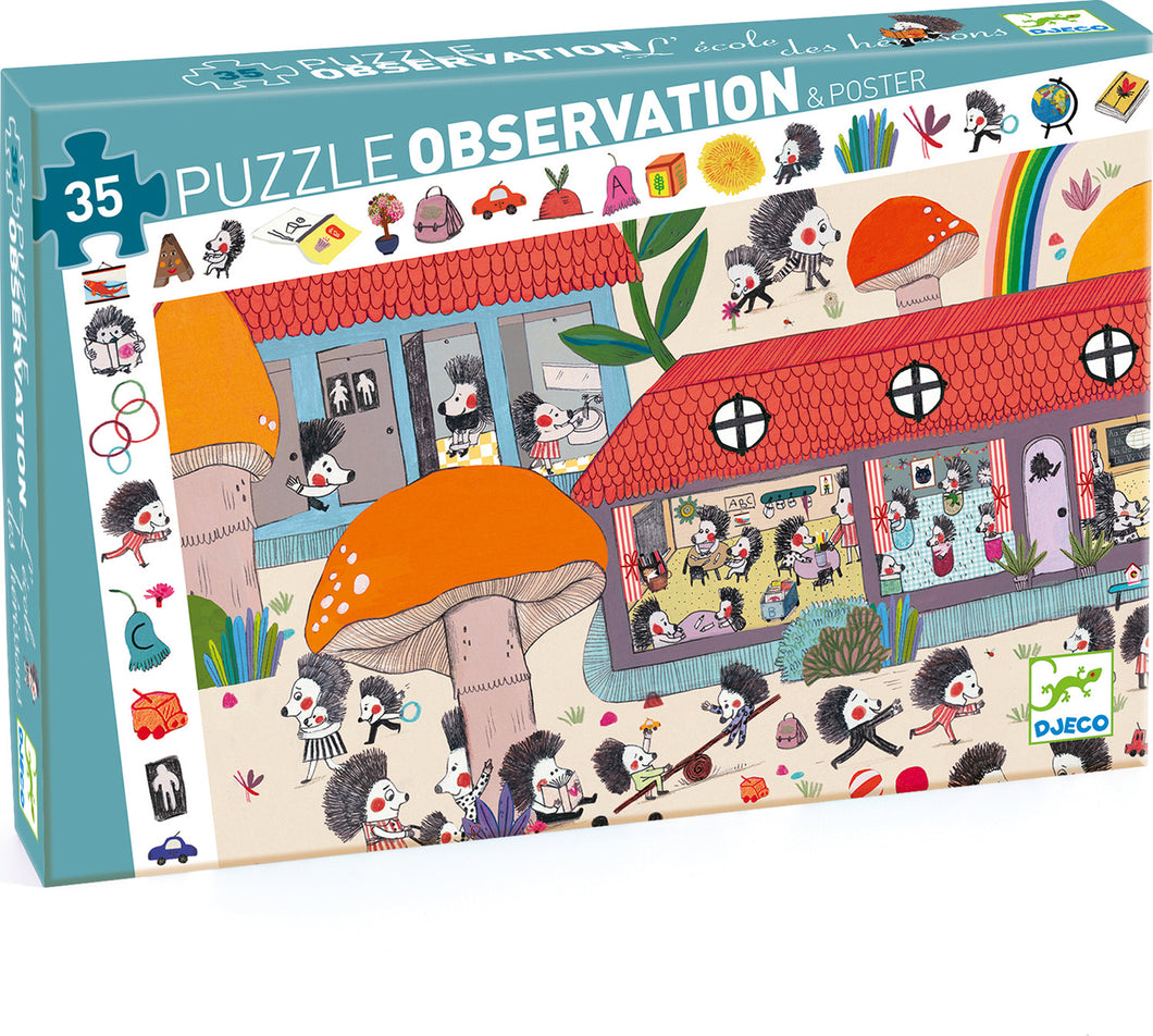 Hedgehog School Observation Puzzle