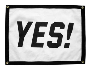 """Yes!"" Camp Flag"