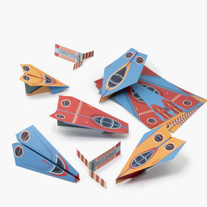 The Delta Force Flyers- Paper Airplane Activity Kit- Clockwork Soldiers
