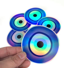 Load image into Gallery viewer, Holographic Evil Eye Sticker