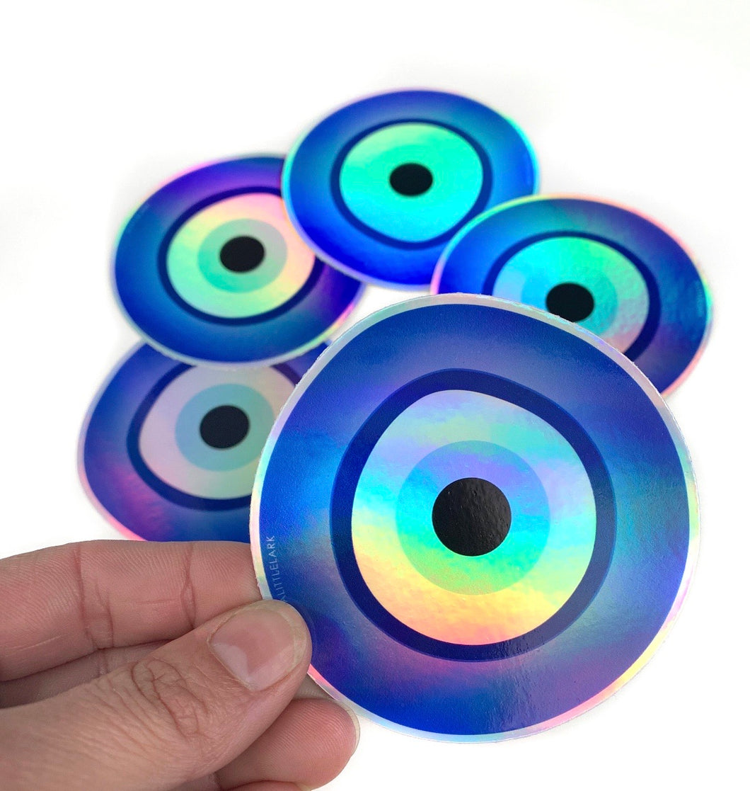 Holographic Evil Eye Sticker