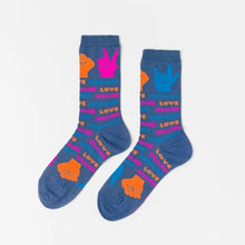 Load image into Gallery viewer, Love Peace Resist Crew Socks