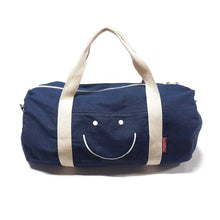 Load image into Gallery viewer, Happy Face Denim Duffle Bag