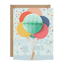 Load image into Gallery viewer, Bunch Of Balloons Pop Up Card