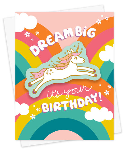 Dream Big Sticker Birthday Card