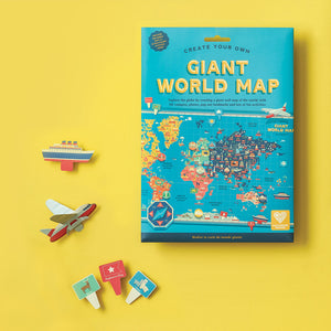 Create Your Own Giant World Map- Clockwork Soldier