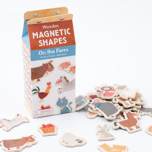 Wooden Magnetic Shapes - On The Farm