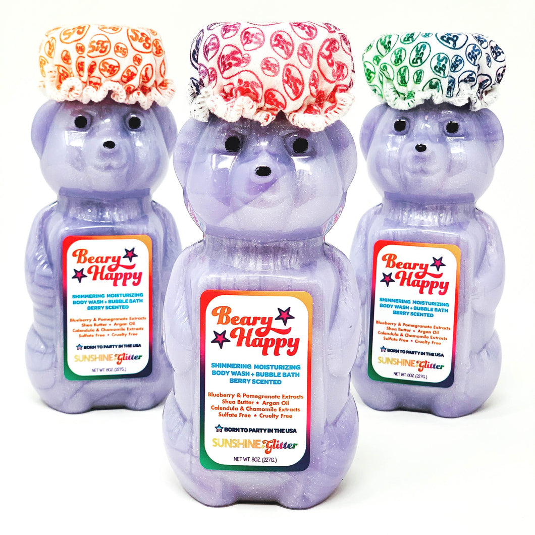 Beary Happy Shimmering Body Wash And Bubble Bath