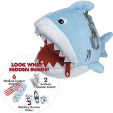 Load image into Gallery viewer, Itty Bitty Finn Shark (keychain mini first-aid kit)
