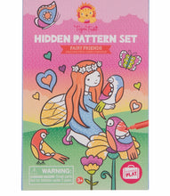 Load image into Gallery viewer, Fairy Friends Hidden Patterns Colouring Set
