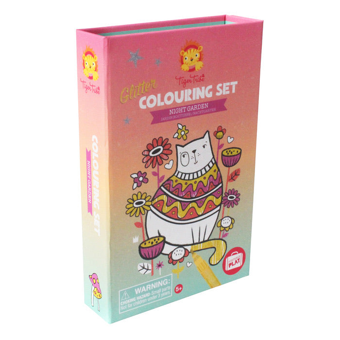 Glitter Coloring Set - Night Garden