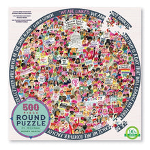 Load image into Gallery viewer, Women March! 500 Piece Round Puzzle