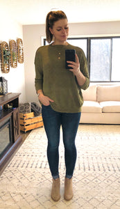 Oversized Olive Sweater
