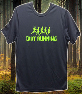 Dirt Running Technical T-Shirt Design 1