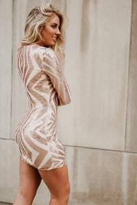 Glitter In My Veins Long Sleeve Sequin Dress