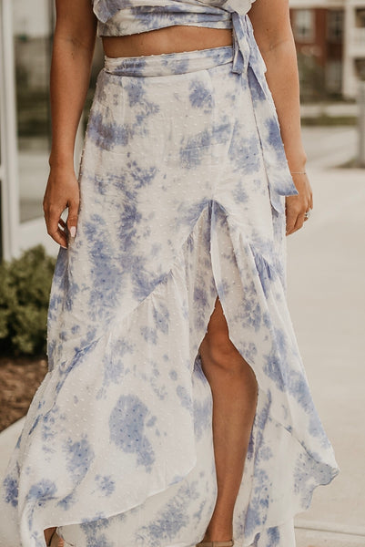 Head in the Clouds Two Piece Skirt Outfit