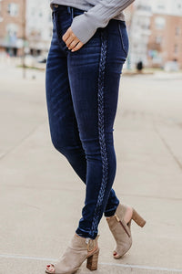 Little Extra Braid Detail Ankle Skinny Jeans