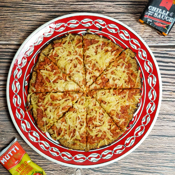 "Spicy ""Italian Sausage"" Cauliflower Crust Pizza"