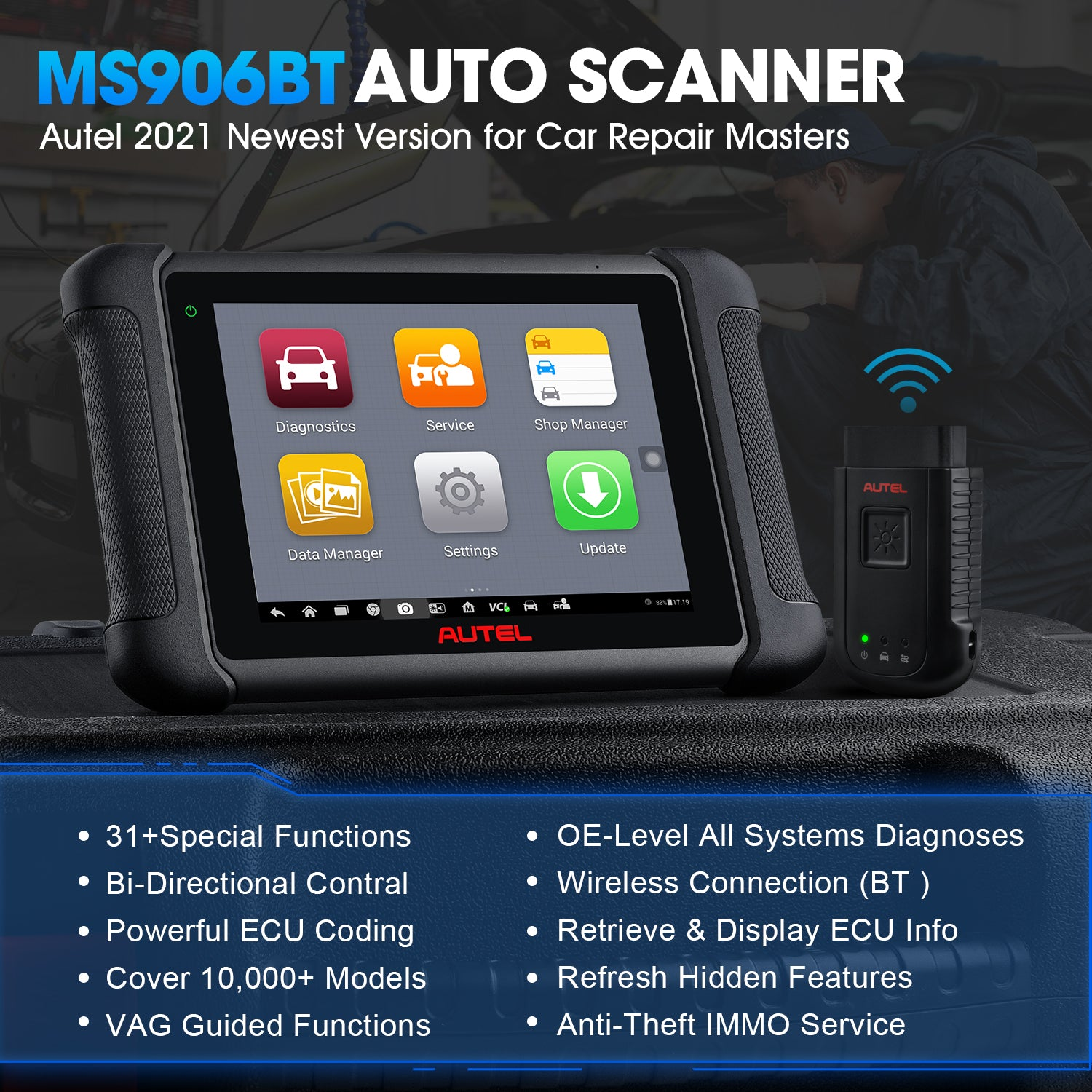 Autel MaxiSys MS906BT as2021 Newest Version for Car Repair Master