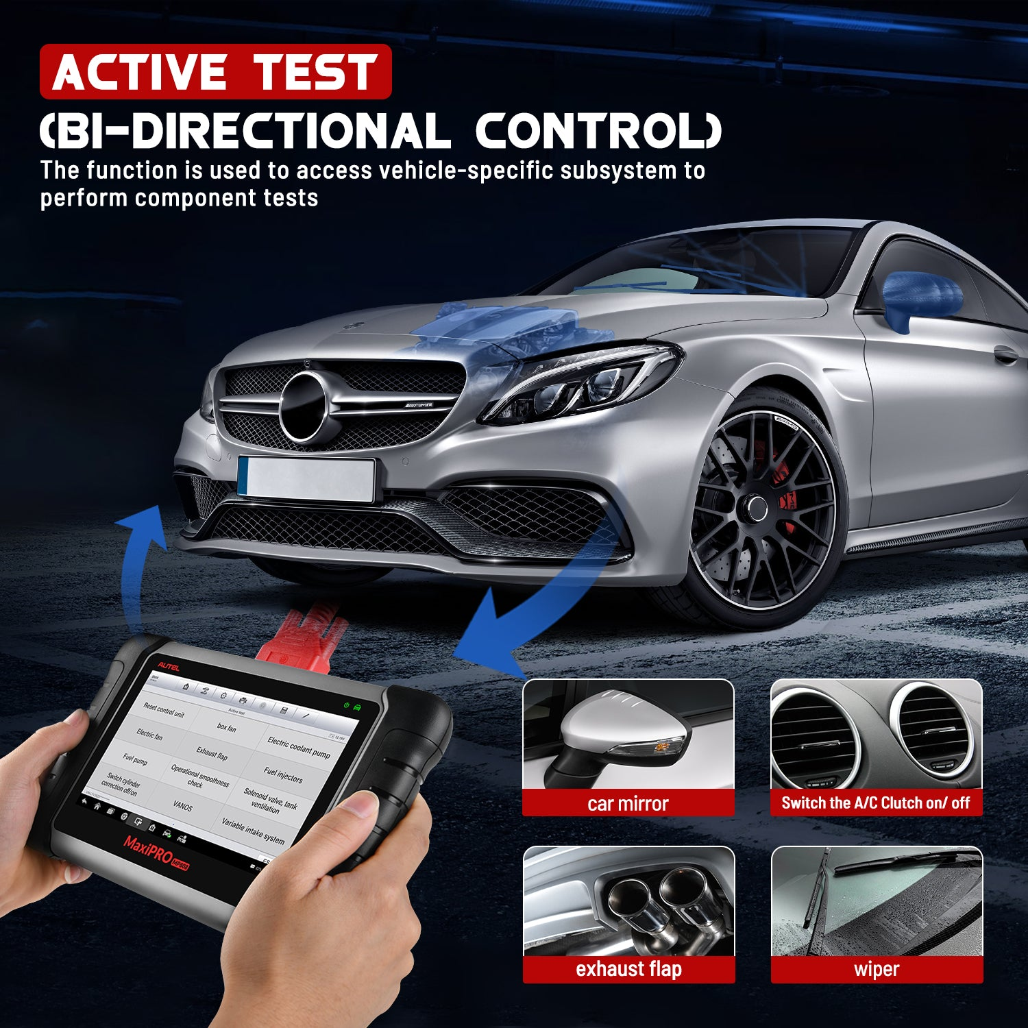 Autel MaxiPro MP808K OE-level All System OBD2 Diagnostics Tool Supports Bi-Directional Control/Active Test