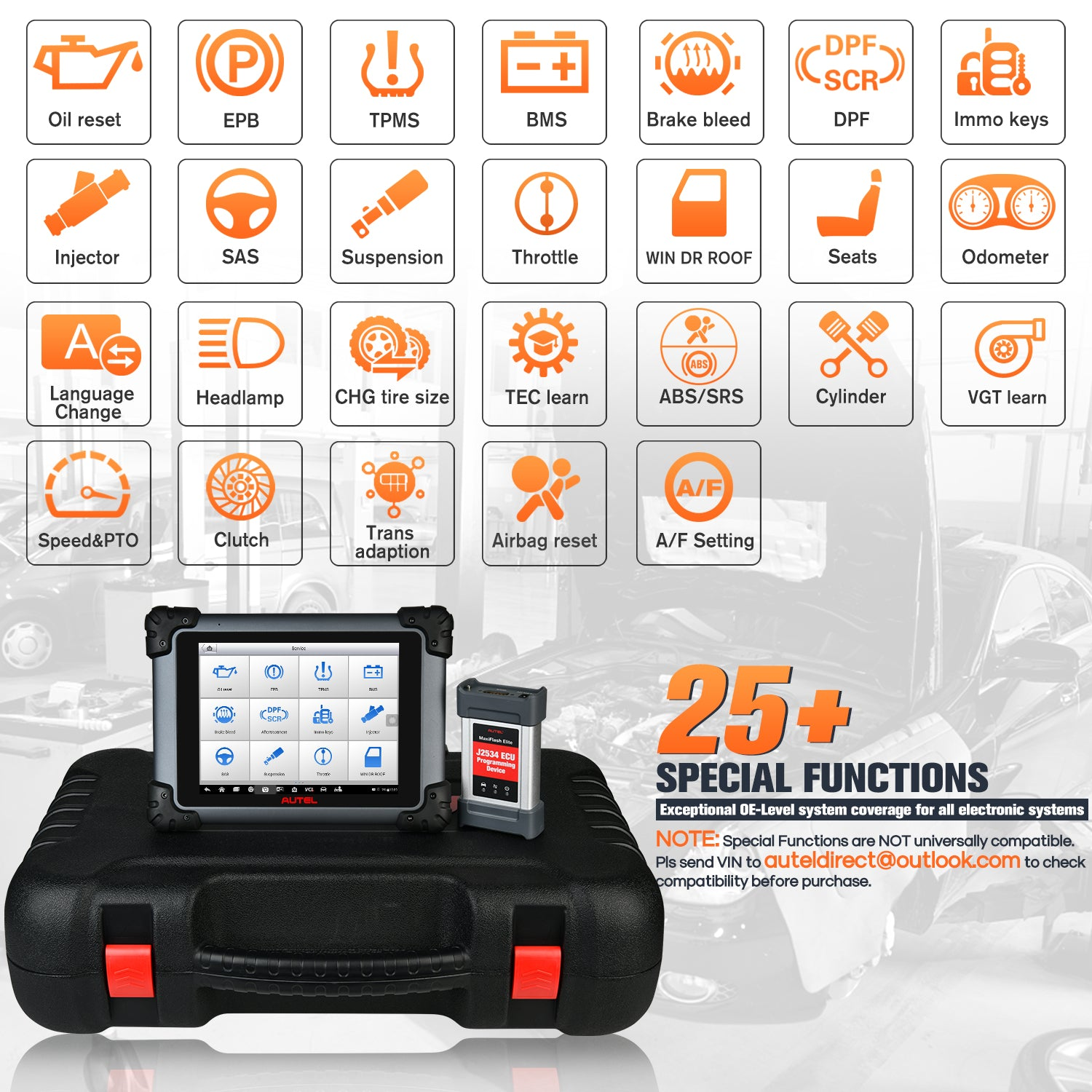 Autel Maxisys MS908S Pro Professional  OBD2 Diagnostic Tool Supports More Than 25 Special Functions