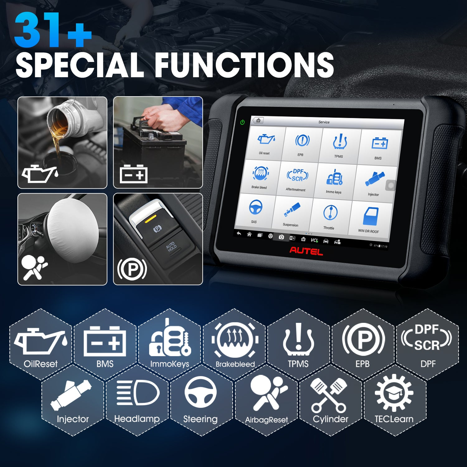 Autel MaxiSys MS906BT Supporting 31+ Special Function Services