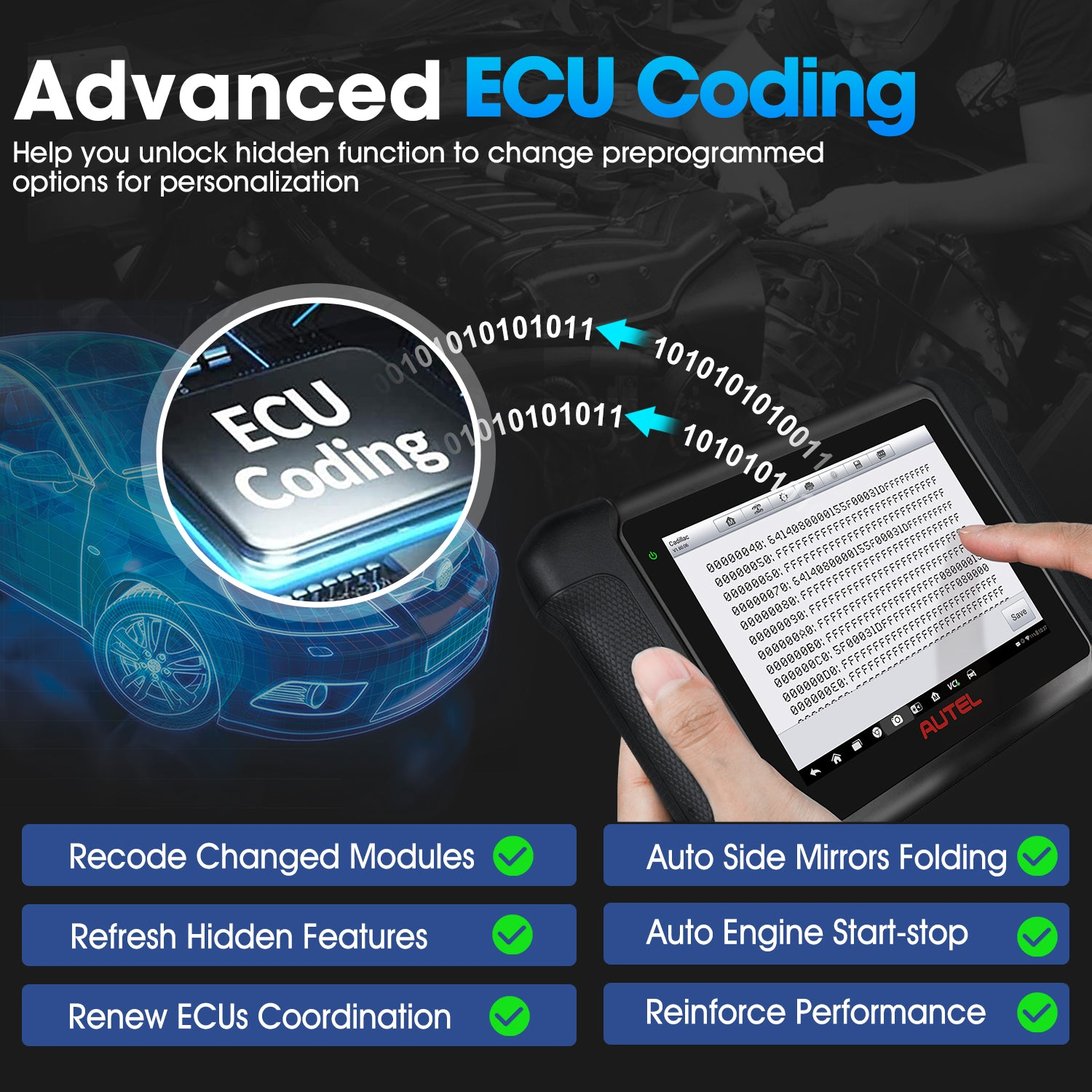 Autel MaxiSys MS906BT Supporting ECU Coding