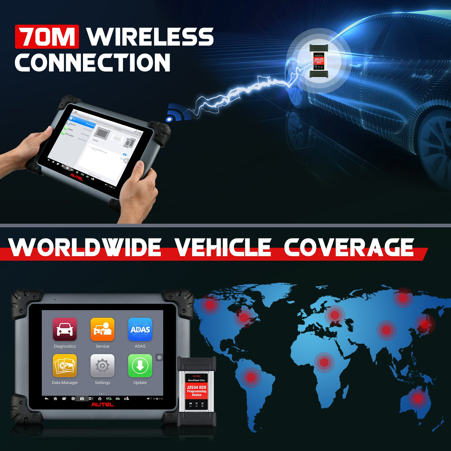 Autel Maxisys MS908S Pro Professional  OBD2 Diagnostic Tool Worldwide Vehicle coverage