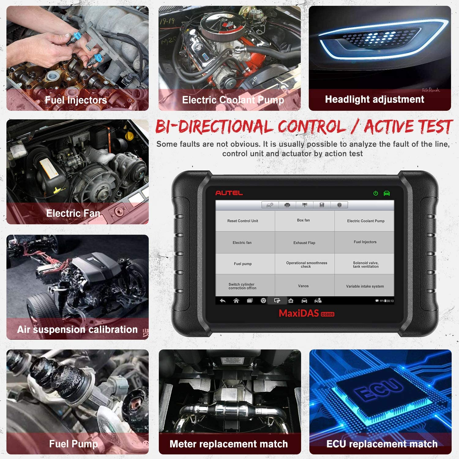 Autel MaxiDAS DS808K Full Systems OBD2 Diagnostic Tool Supports Bi-Directional Control/Active Test