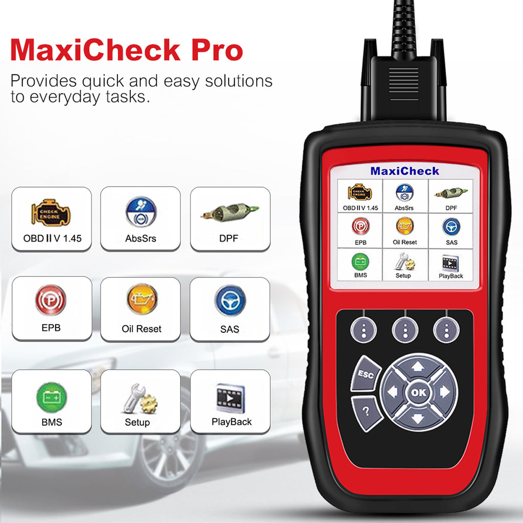 maxicheck pro 9 functions display