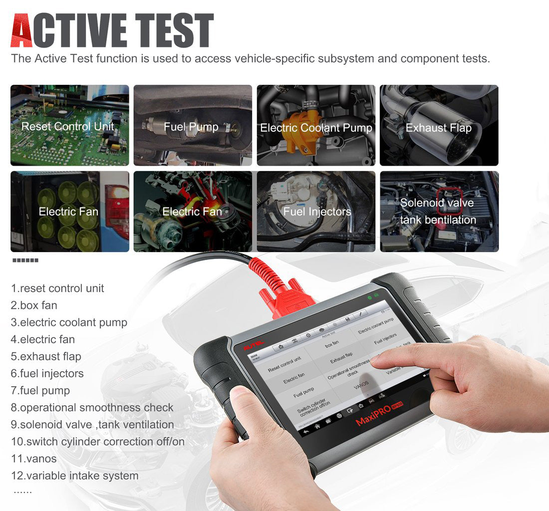 autel mp808k support active test