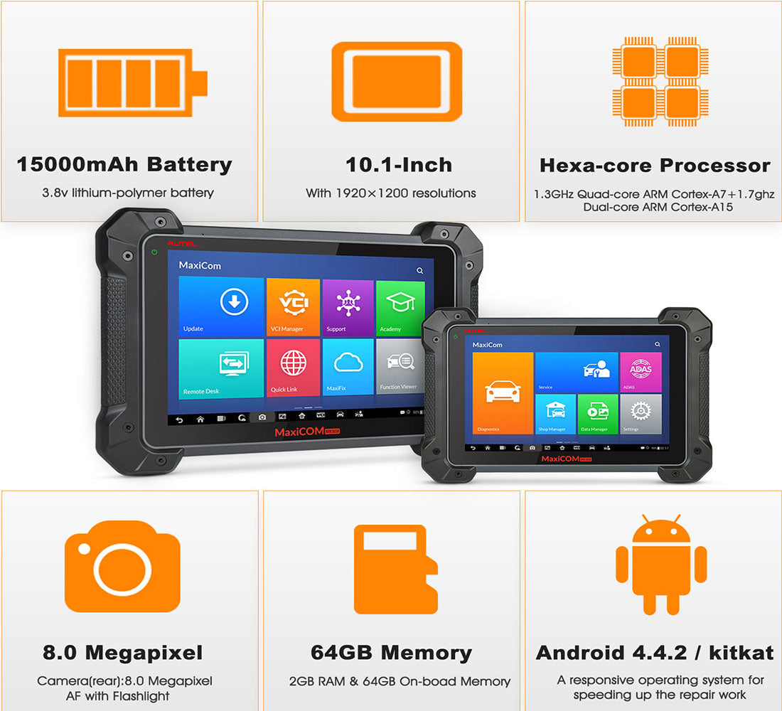 autel mk908 display Specifications