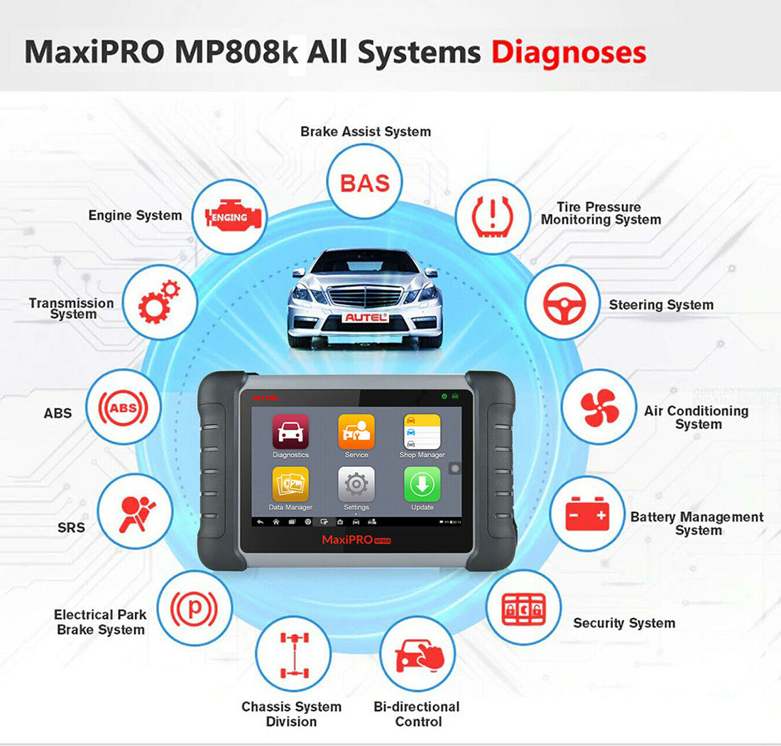 autel mp808k all system diagnostic