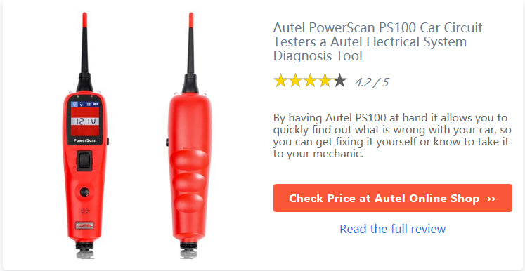 Autel PowerScan PS100 Review: best electrical tester for