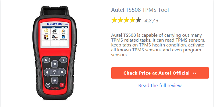 Autel Maxitpms TS508 Review: An Worth OBDII TPMS Service