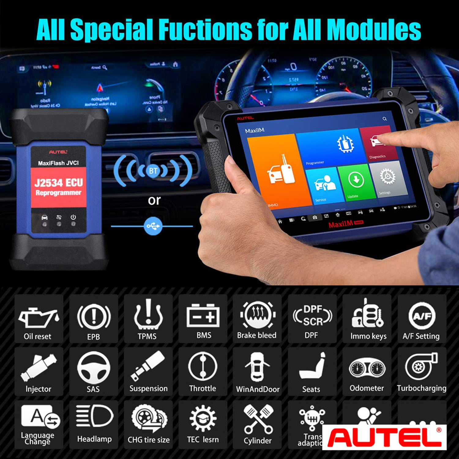 Autel MaxiIM IM608 Key Programming Tool Supports All Special Functions for All Modules