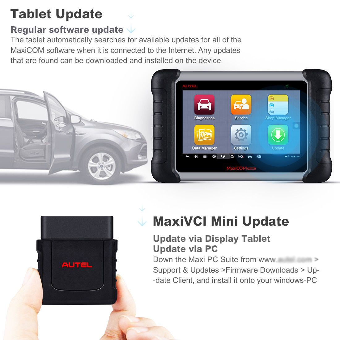 Autel MK808BT Support Wi-Fi Update