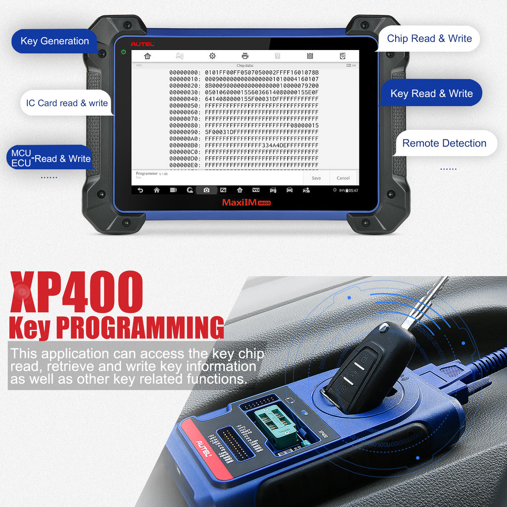 XP400 functions display
