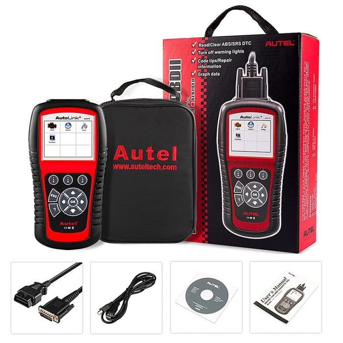 autel al619 obd2 scanner package list